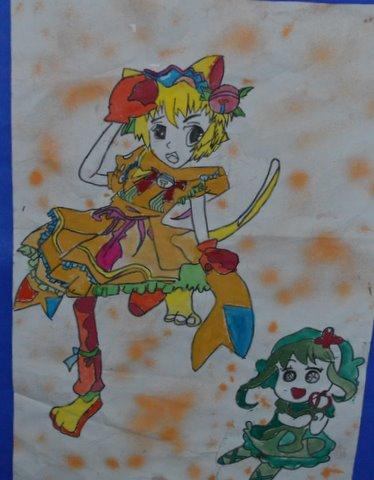 《美少女》   杨茜   四年级86班      水粉画