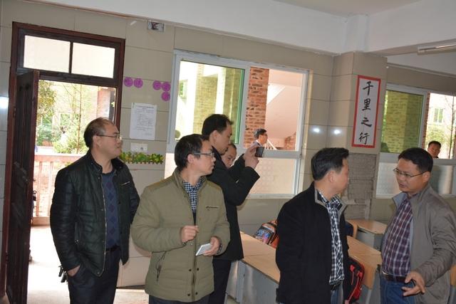 衡南县向阳中学莅临我校学习考察