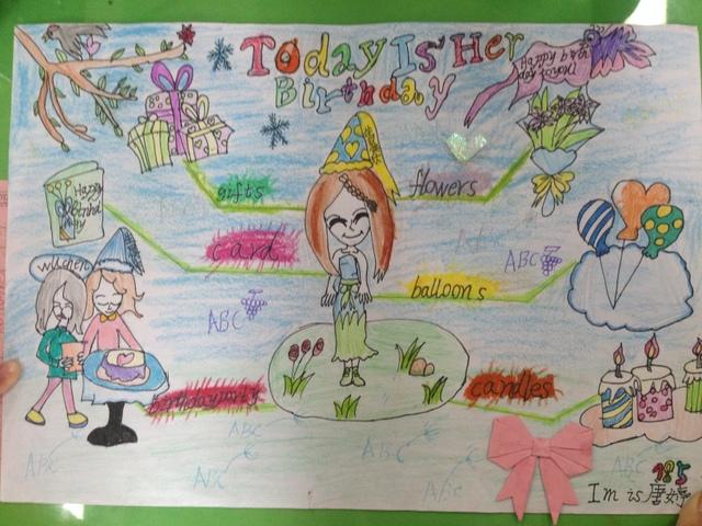 小学部四年级举行英语思维导图比赛